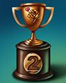 Rose Race Lap 2 Badge - Mahjong Garden HD