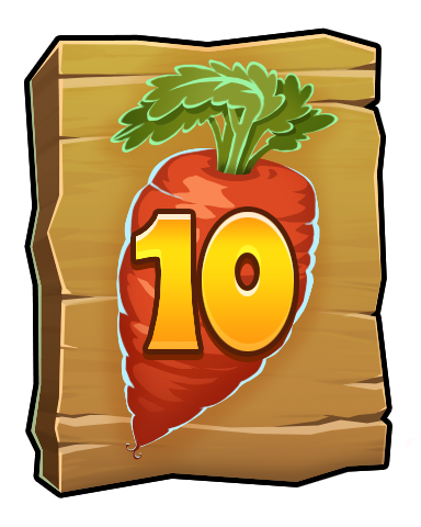The Carrot Badge - Word Whomp HD