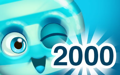 Blue Cookie 2000 Badge - Cookie Connect