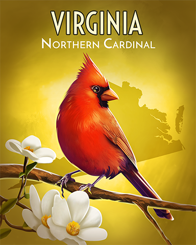 Virginia Northern Cardinal Badge - Claire Hart: Secret In The Shadows