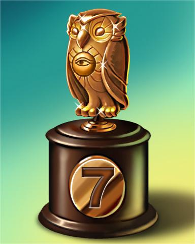 Owl Run Lap 7 Badge - Poppit! Bingo