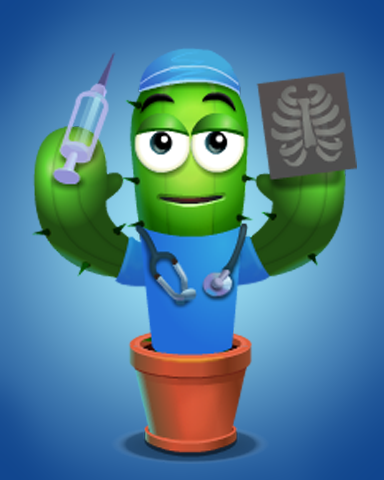 Doctor Level 1 Badge - Poppit! Party