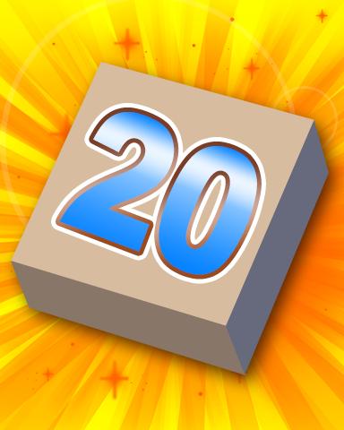 Rank 20 Badge - SCRABBLE