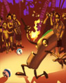 Fire Eater Badge - Bingo Luau