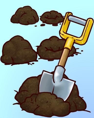 Dig It Badge - Quinn's Aquarium