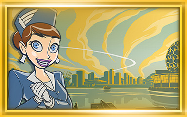 Vancouver Extended Stay Coach Badge - Jet Set Solitaire