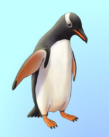 Gentoo For You Badge - Quinn's Aquarium