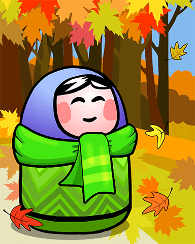 Autumn Is Coming Badge - Trizzle