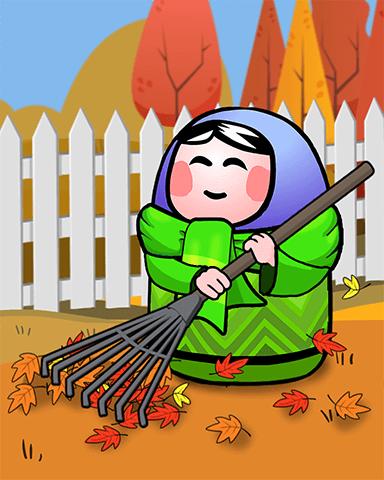 Leaf Fall Badge - Trizzle