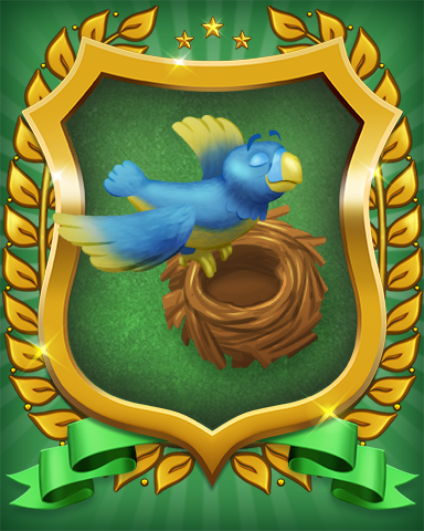 Fly The Coop Badge - Pogo Mini Golf