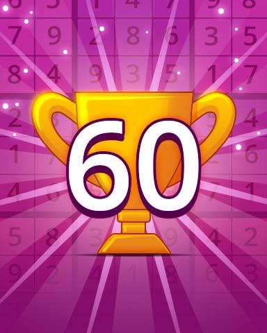 Rank 60 Badge - Pogo Daily Sudoku