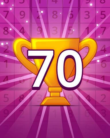 Rank 70 Badge - Pogo Daily Sudoku