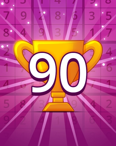 Rank 90 Badge - Pogo Daily Sudoku