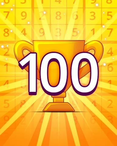 Rank 100 Badge - Pogo Daily Sudoku