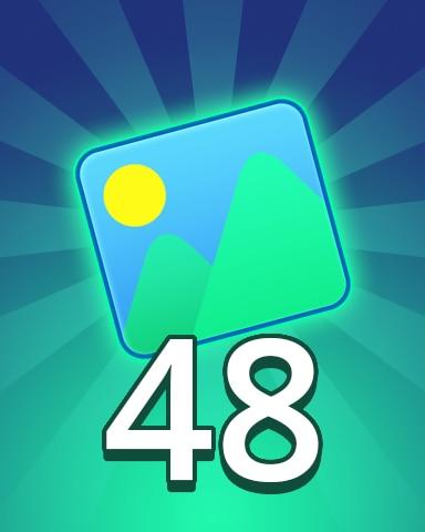 Theme 48 Badge - Pogo Daily Sudoku