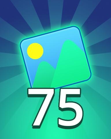 Theme 75 Badge - Pogo Daily Sudoku