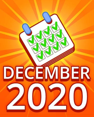 All Puzzles December 2020 Badge - Pogo Daily Sudoku