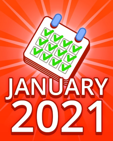 All Puzzles January 2021 Badge - Pogo Daily Sudoku