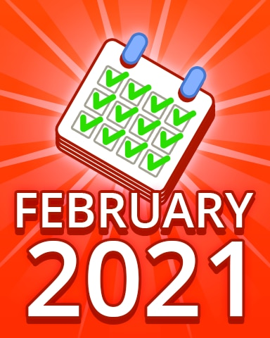 All Puzzles February 2021 Badge - Pogo Daily Sudoku