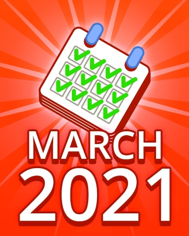 All Puzzles March 2021 Badge - Pogo Daily Sudoku