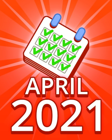 All Puzzles April 2021 Badge - Pogo Daily Sudoku