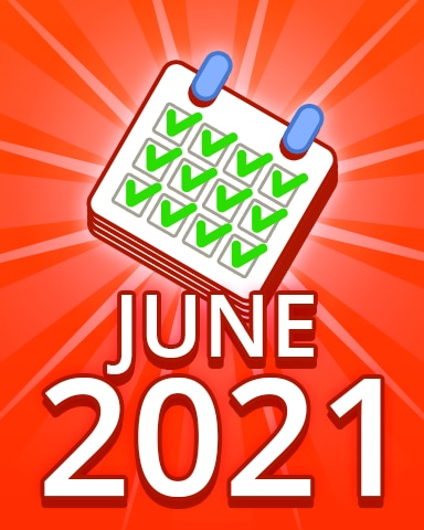 All Puzzles June 2021 Badge - Pogo Daily Sudoku