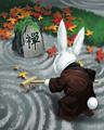Becalmed Bunny Badge - Mahjong Garden HD