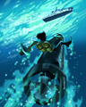 Bucking Torpedo Badge - BATTLESHIP