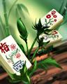 Block Blossoms Badge - Mahjong Garden HD
