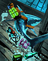 Shark Rider Badge - Vaults Of Atlantis Slots