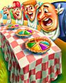 Pie Competitors Badge - TRIVIAL PURSUIT Daily 20