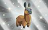 Silver Stuffed Llamas Badge - Poppit! Bingo