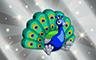Silver Stuffed Peacock Badge - Poppit! Bingo