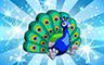 Diamond Stuffed Peacock Badge - Poppit! Bingo