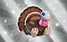 Silver Stuffed Turkey Badge - Poppit! Bingo