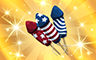 Gold Fireworks Badge - Poppit! Bingo