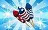 Diamond Fireworks Badge - Poppit! Bingo