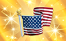 Gold US Flag Badge - Poppit! Bingo