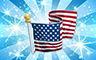 Diamond US Flag Badge - Poppit! Bingo