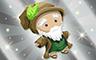 Silver Druid Doll Badge - Poppit! Bingo