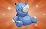 Bronze Stuffed Rhino Badge - Poppit! Bingo
