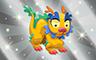Silver Stuffed Dragon Badge - Poppit! Bingo