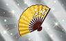 Silver Hand Fan Badge - Poppit! Bingo