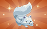 Bronze Stuffed Arctic Fox Badge - Poppit! Bingo
