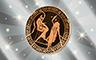 Silver Athenian Plates Badge - Poppit! Bingo