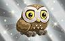 Silver Athenian Owl Badge - Poppit! Bingo