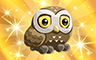Gold Athenian Owl Badge - Poppit! Bingo