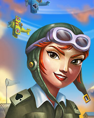 Wild Blue Yonder Badge - Aces Up! HD