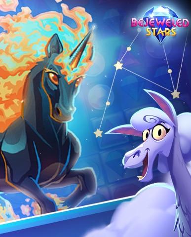 Blazing Stars Badge - Bejeweled Stars