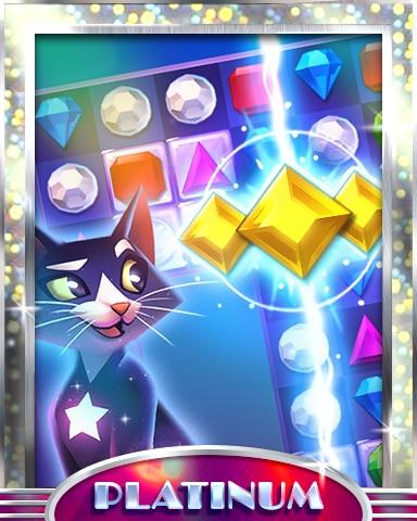 It's A Match Platinum Badge - Bejeweled Stars